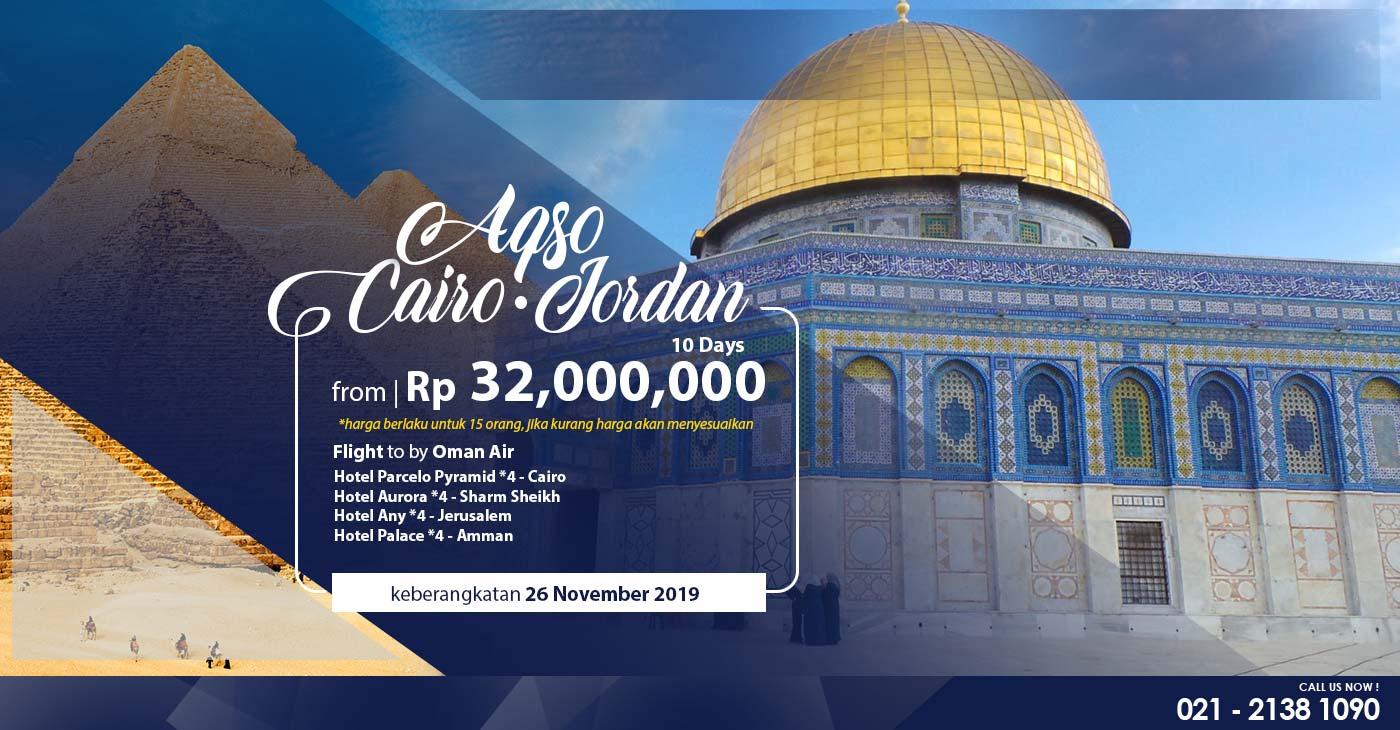 paket muslim tour cairo, mesir, jordan