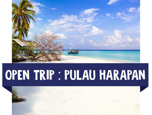 paket wisata open trip harapan