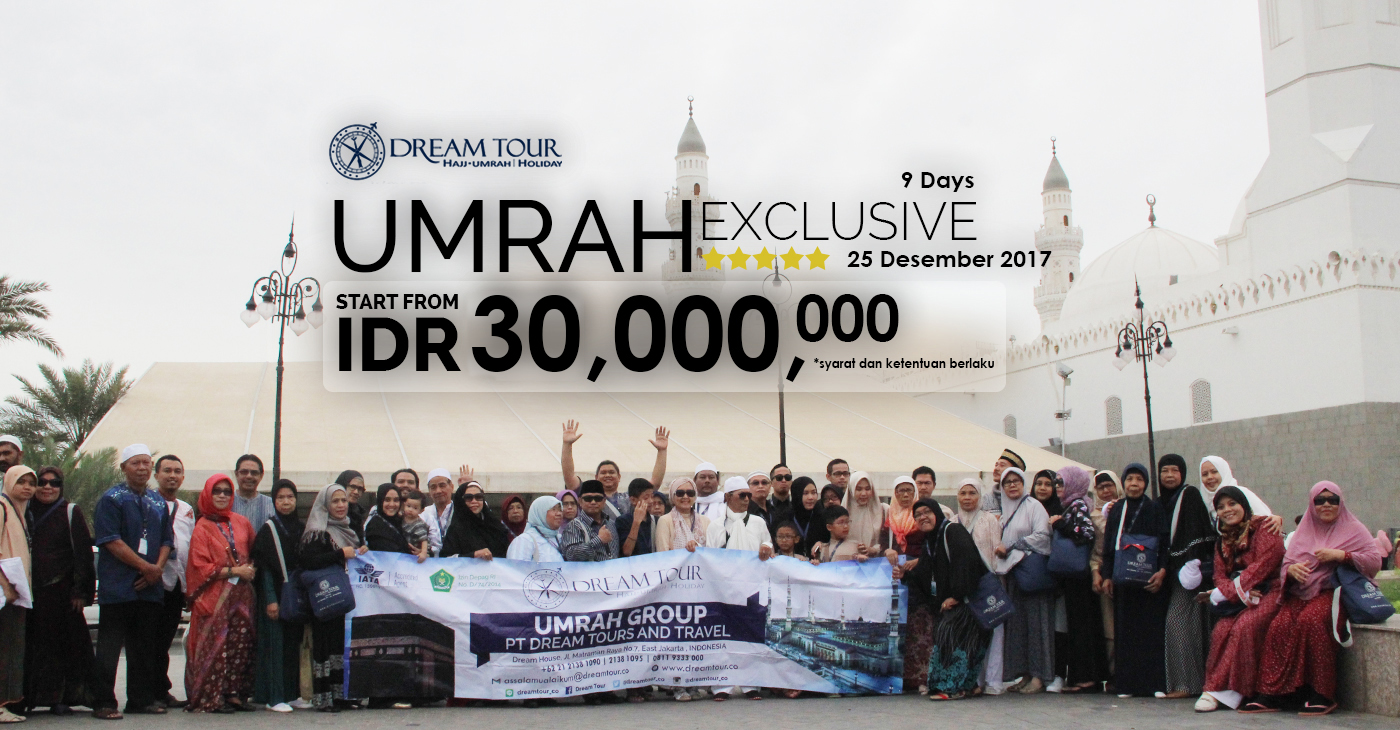 umroh desember, umroh Desember 2017, paket umroh Desember 2017, pt dream tours and travel